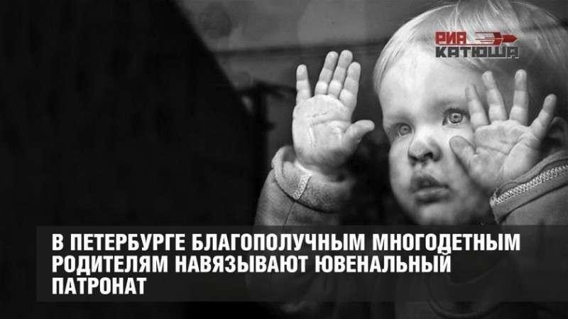 Ювенальные бандиты Петербурга приравняли многодетные семьи к неблагополучным