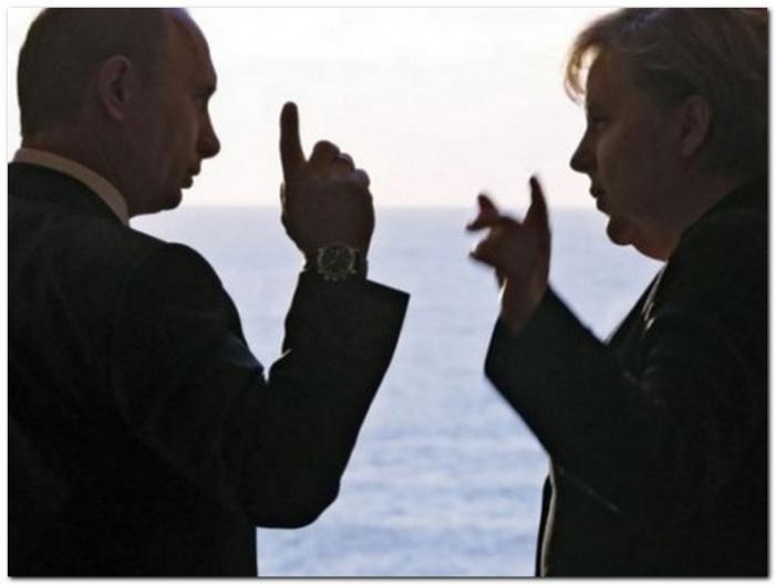 Владимир Путин и Ангела Меркель согласились, что США являются угрозой для всего мира