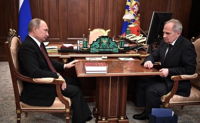 Владимир Путин встретился с Председателем Конституционного Суда Валерием Зорькиным