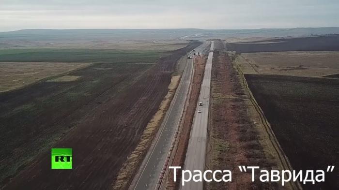 Зимний Крым: ход строительства трассы «Таврида»
