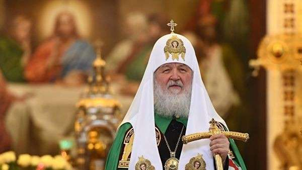 Патриарх Московский и всея Руси Кирилл проводит Божественную литургию в Храме Христа Спасителя. 2 декабря 2018