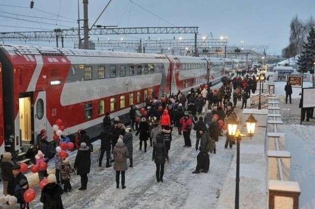 Двухэтажные поезда начали курсировать изИжевска вМоскву