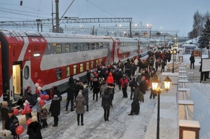 Из Ижевска в Москву начали курсировать двухэтажные поезда
