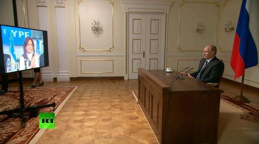 Владимир Путин и Кристина Киршнер запустили вещание телеканала RT на испанском языке в Аргентине
