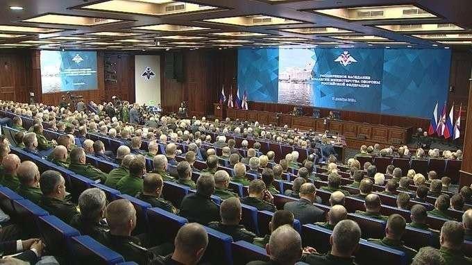 Владимир Путин выступил на расширенном заседании коллегии Министерства обороны