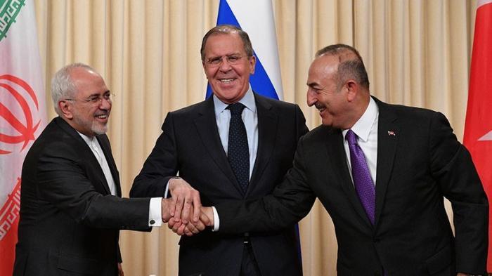 Сергей Лавров подвёл итоги переговоров по Сирии с главами МИД Ирана и Турции