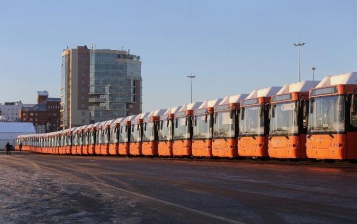 Нижний Новгород. Вторая партия из50 новых автобусов ЛИАЗ-529267 прибыла