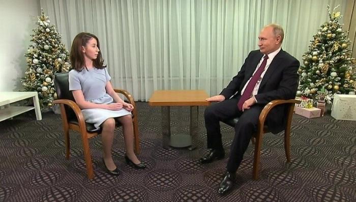 Владимир Путин исполнил мечту тяжелобольной девочки Регины Парпиевой и дал ей интервью