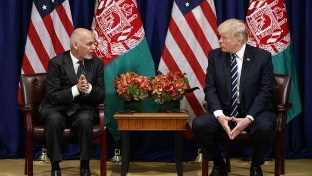Президент Афганистана Гани Ашраф и президент США Дональд Трамп
