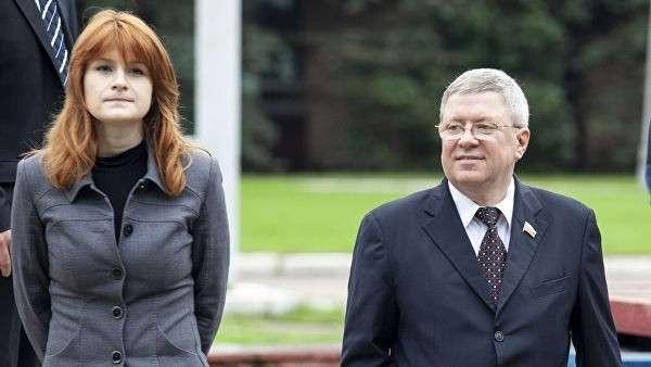 Мария Бутина и сенатор Александр Торшин