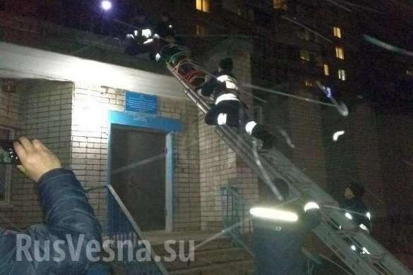 В Днепропетровске вор выпал из окна многоэтажки | Русская весна