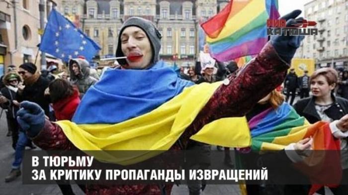Украина – «цэ Европа»: «кто против извращений – агент Кремля, в тюрьму его!»