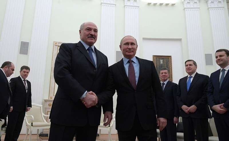 Встреча Владимира Путина с Президентом Белоруссии Александром Лукашенко 25.12.2018