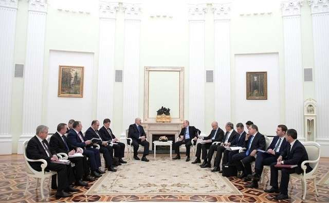 Встреча Владимира Путина с Александром Лукашенко