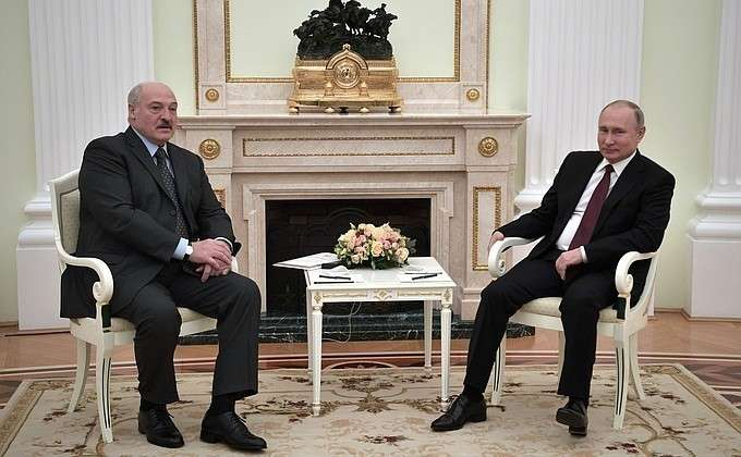 В Москве состоялась встреча Владимира Путина с Президентом Белоруссии Александром Лукашенко