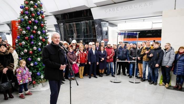 В Москве открыта новая станция метро «Савеловская» Большой кольцевой линии