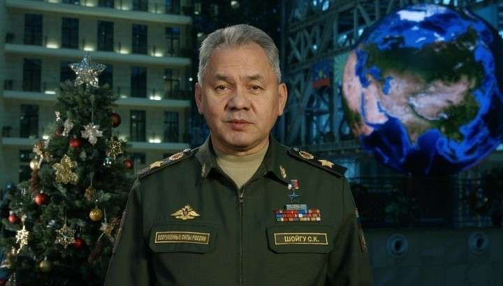 Армию России с Новым Годом поздравил Сергей Шойгу