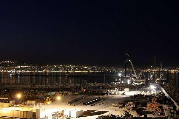 Строительство Военно-морской базы в Новороссийске ведётся в круглосуточном режиме