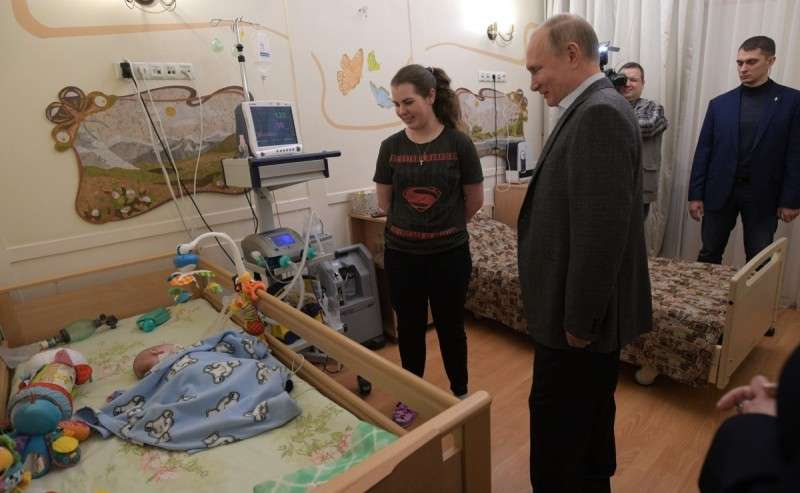Владимир Путин в Петербурге посетил детский хоспис