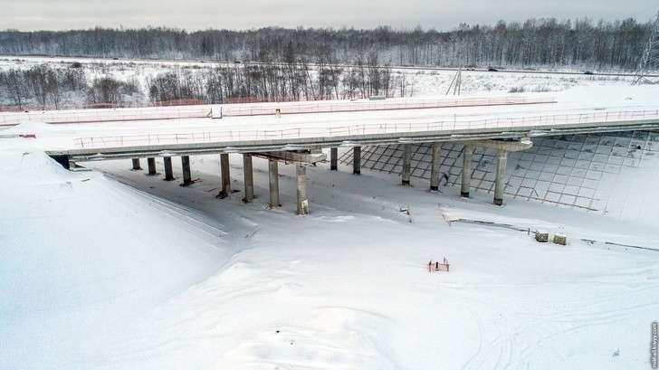 Фоторепортаж остроительстве автомобильной дороги М11: Мясной Бор, развязка 547 км