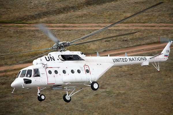 Вертолет Ми-171 миссии ООН