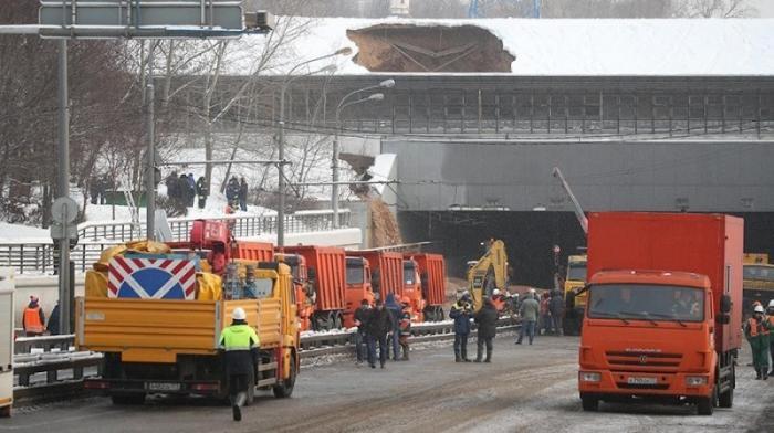 Затопленный Тушинский тоннель в Москве сняли с беспилотника