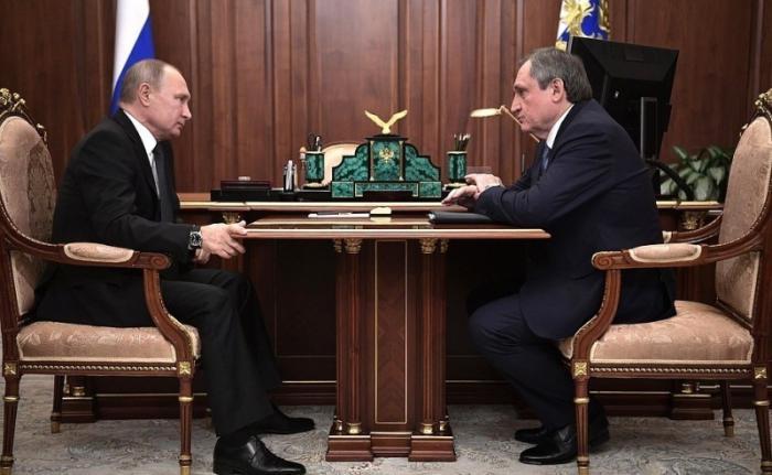 Владимир Путин провёл рабочую встречу сглавой компании «РусГидро» Николаем Шульгиновым