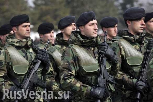 США создают в Сербии армию боевиков с боевыми вертолётами и бронетехникой