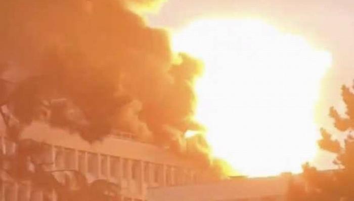 Франция. В университете Лиона прогремела серия взрывов, после чего начался пожар