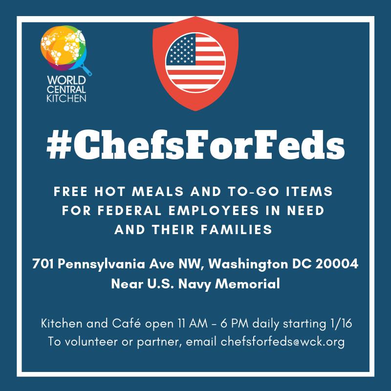 Шатдаун в США: чиновникам начинают раздавать горячую пищу
