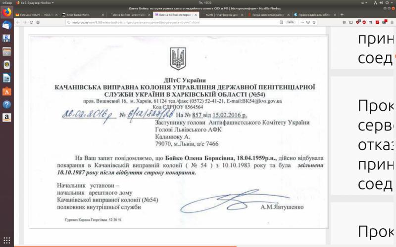 Елена Бойко не антифашист, а агент СБУ?