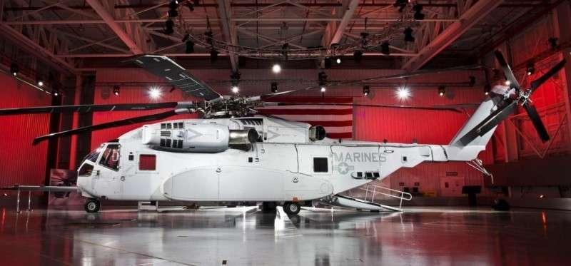 Самый дорогой вертолёт ВВС США CH-53K King Stallion летает пока не очень