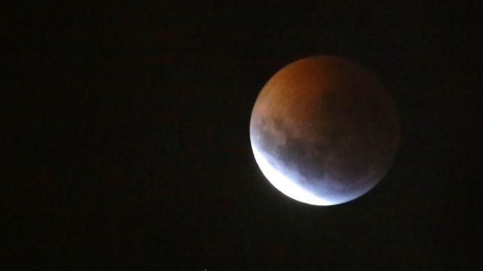 Багровая луна: трансляция полного затмения