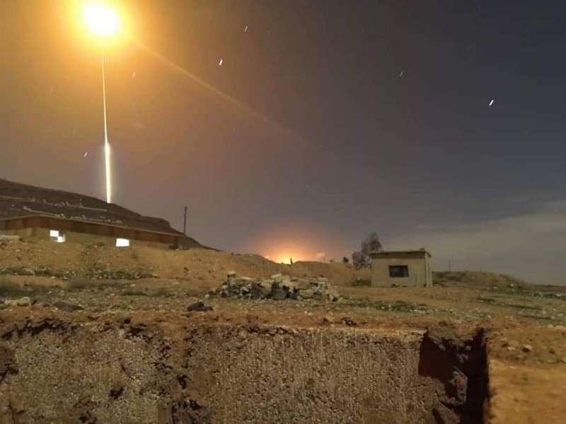 Налет ВВС террористического Израиля на Дамаск 21.01.2019