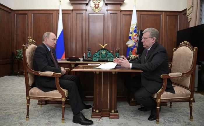 Владимир Путин провёл рабочую встречу с председателем Счётной палаты Алексеем Кудриным