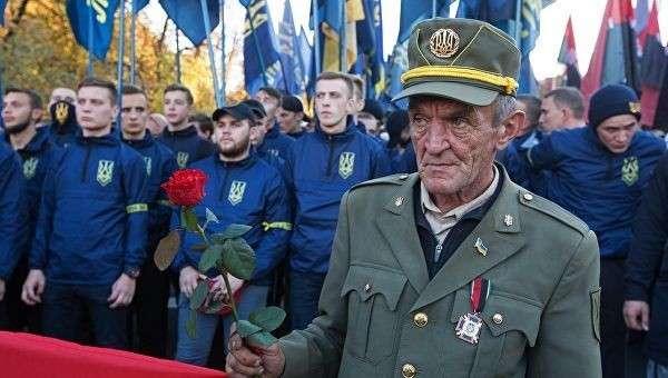 Участники марша националистов в Киеве. Архивное фото