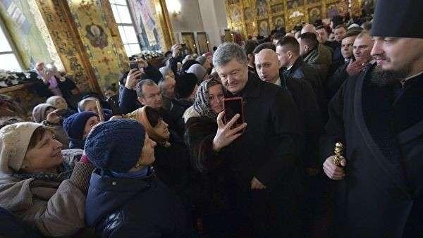Президент Украины Петр Порошенко во время поездки в Житомирскую область. 17 января 2019