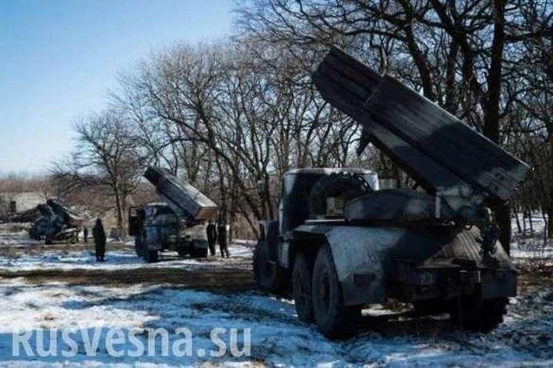Сводка о ситуации на Донбассе: на Украине случайно проболтались о «Градах» на Песках