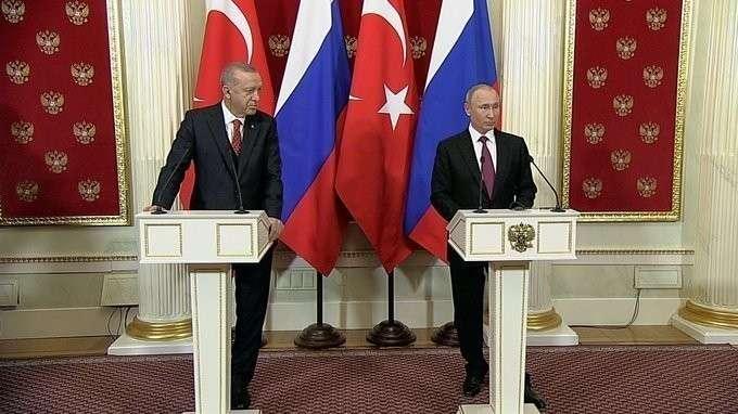 Пресс-конференция поитогам российско-турецких переговоров