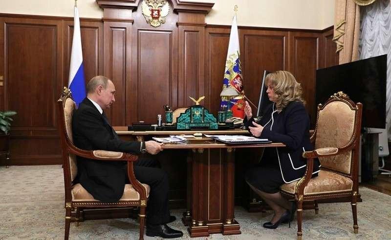 СПредседателем Центральной избирательной комиссии Эллой Памфиловой.