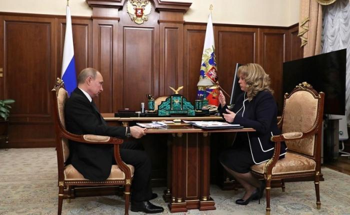Владимир Путин провёл встречу с Председателем Центризбиркома Эллой Памфиловой