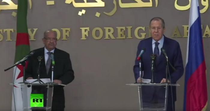Сергей Лавров и глава МИД Алжира Абделькадер Месахель подводят итоги переговоров