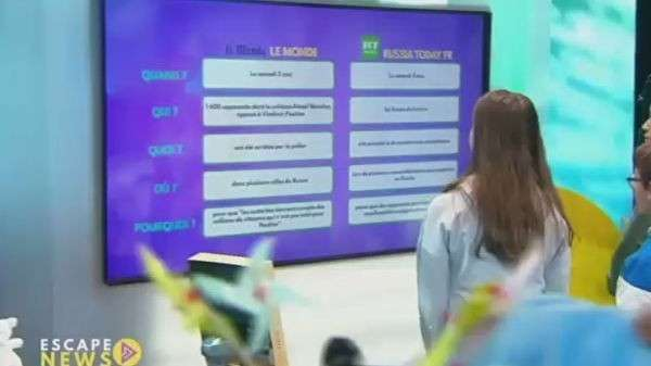 Скриншот программы Escape News на французском телеканале France 4