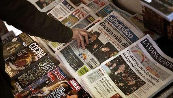 Прилавок с газетами в Испании