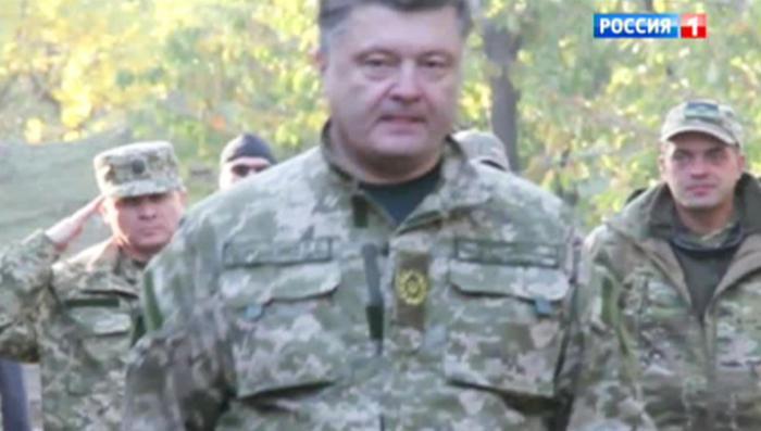 Самозванец Порошенко осмотрел «тот самый «Бук», из которого сбили малайзийский «Боинг»