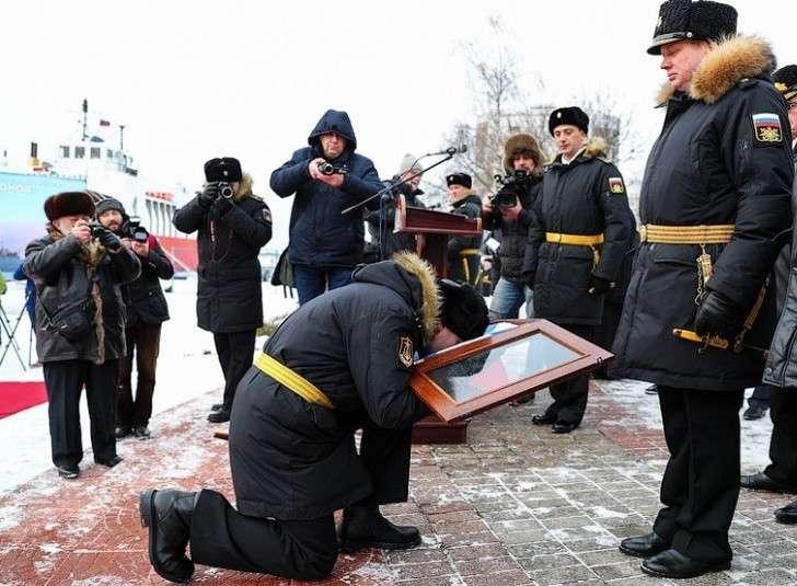 ВМФ России получил противоминный корабль нового поколения «Иван Антонов»