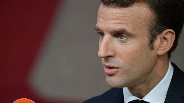 Президент Франции Эммануэль Макрон