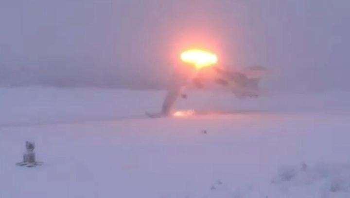 Крушение Ту-22М3 в Оленегорске сняли на видео