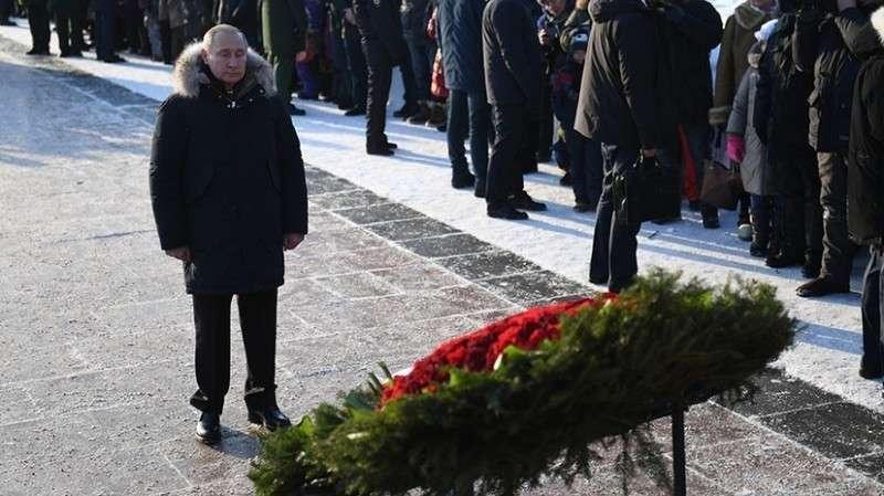 Блокады Ленинграда - Владимир Путин возложил цветы в память о жертвах