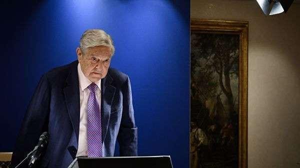 Американский миллиардер Джордж Сорос во время выступления на форуме в Давосе. 24 января 2019
